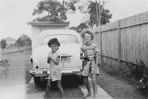 Even in Australia we knew who Davey Crockett was....!! Me on the left and older bro on the right.