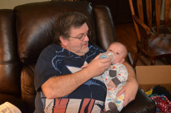 Les Walters with his first grandson, Tadd