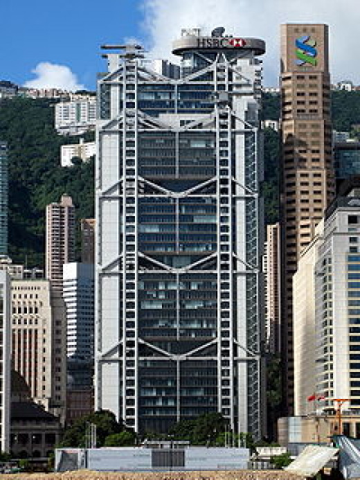 This HSBC building was feng shui inspired.