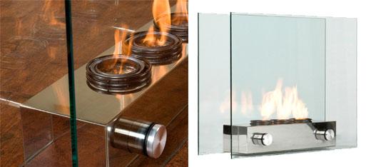 Southern Enterprises Loft Portable Indoor / Outdoor Fireplace