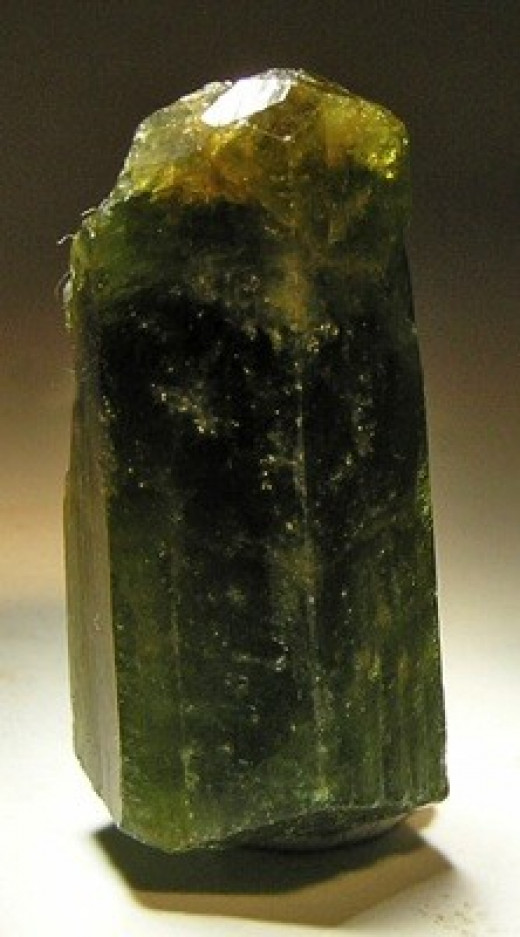 Green stones like this tourmaline are believed to be energising and healing.