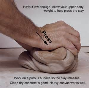This clay shows how basic and easy it is to work the clay to rid it of lumps and air pockets.