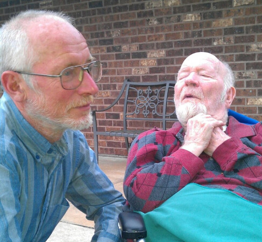 Life is short. This is a photo of Dad and brother Allen shortly before both they died six weeks apart..