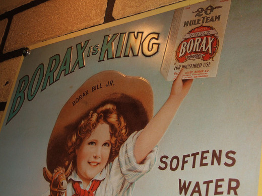 Borax softens water and improves washing performance