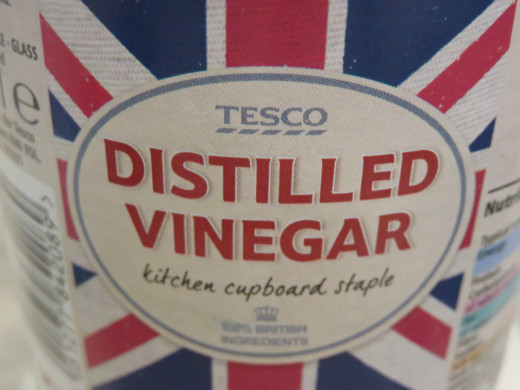 White vinegar can be used to remove limescale