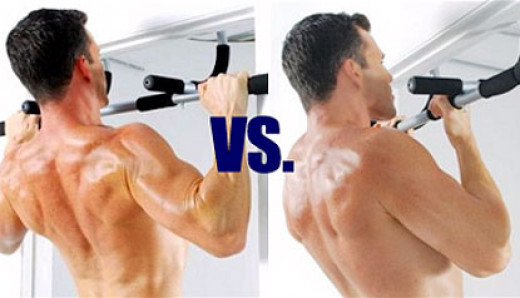 Difference between pull ups and chin ups.