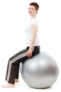 Many different exercises can be done on an exercise ball. Even sitting on one for an extended time can be good exercise.