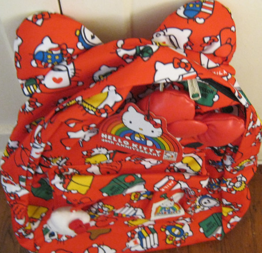 Hello Kitty backpack bought at Hello Kitty Con 2014.