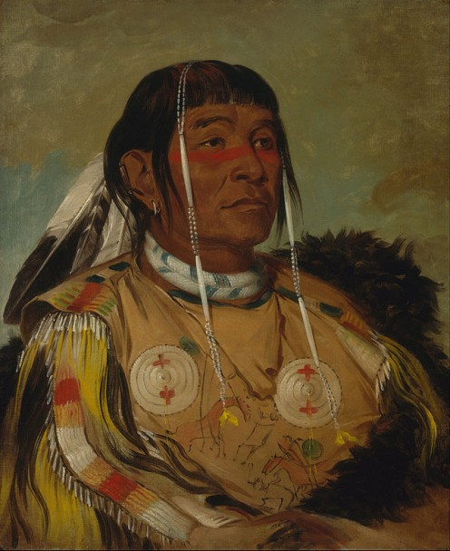 Sha-có-pay, a Plains Ojibwe chief. Included in the Google Art Project.
