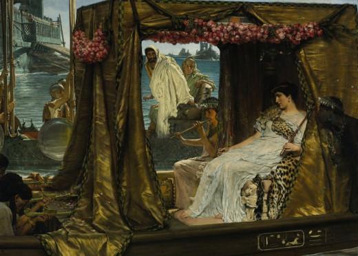 Antony and Cleopatra and roses