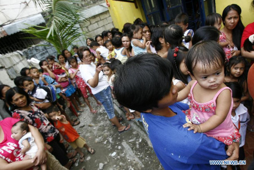 Measles vaccination in Kaloocan City