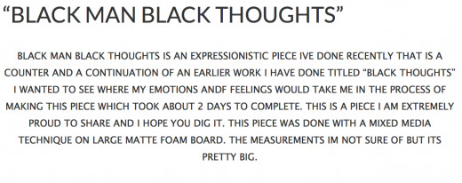 Black thoughts on a white paper.