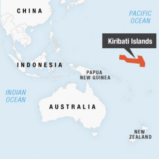 Location of the Republic of Kiribati