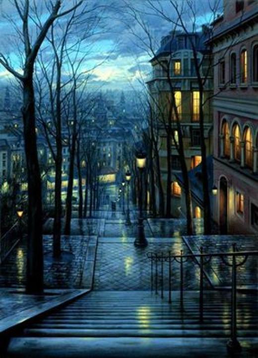 Montmartre in blue