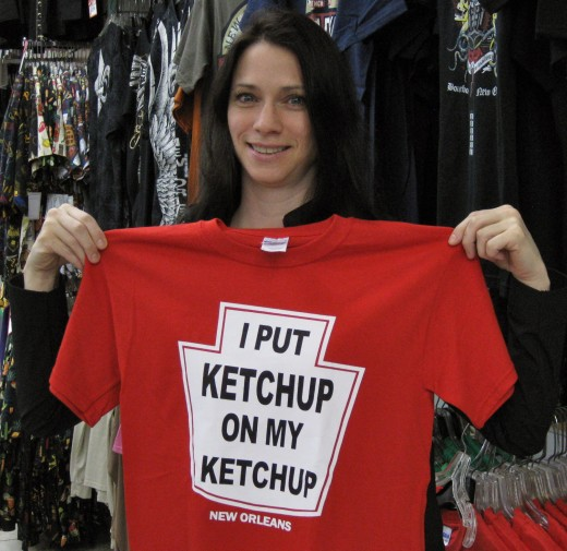 Ketchup is pretty much sugary junk food.  Mustard is a better alternative.