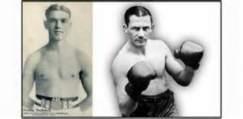 Pinky Mitchell (Left) is seen here pictured with one of the best lightweights in boxing history, Benny Leonard. Mitchell is recognized as the first junior welterweight champion ever.