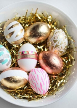 Colorful and Metallic eggs