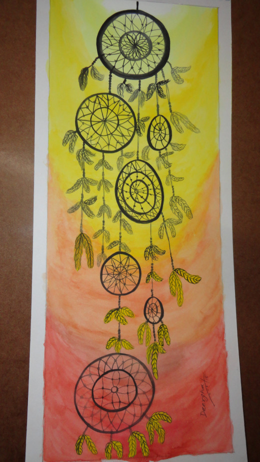 Dream catcher - an watercolor done by me