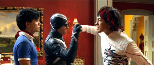 Speed (Emile Hirsch), Racer X (Matthew Fox) and Taejo (Rain)