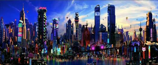 The Wachowski's awesome futuristic city