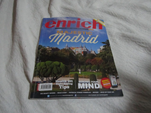 Cover of Enrich Magazine issue where my article was featured.