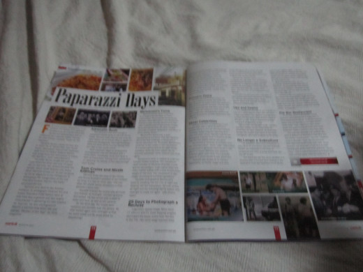 Spread of my article on Enrich Magazine