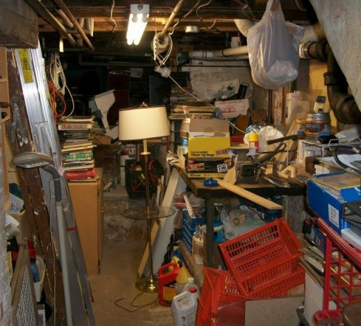 Chances are that you can spot 5 items that can go off to a better use, or be thrown in the garbage, or recycled... And if your attic looks anything close to this or worse, you may be able to find a new home (donate or toss) for some items as well.