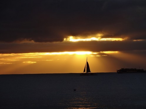Sailing brings you much closer to the world around you and lets you appreciate the beauty in it