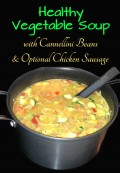 Healthy Vegetable Soup with Cannellini Beans