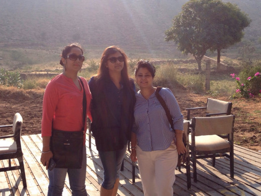 From left to right - Me, Dipti and Jayanti