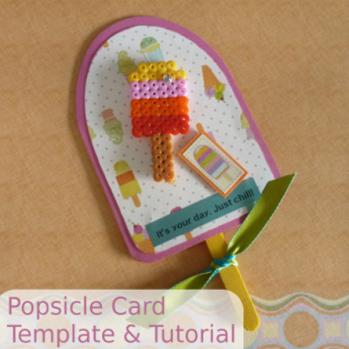 Make a summer themed card craft with a Popsicle designed card