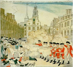 The Boston Massacre: tempers flared and so did muskets!
