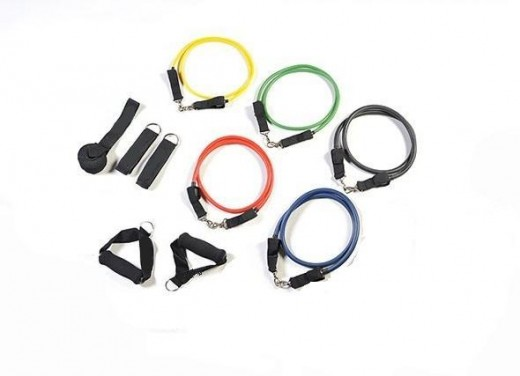Resistance bands are available in a wide variety of styles and strengths.