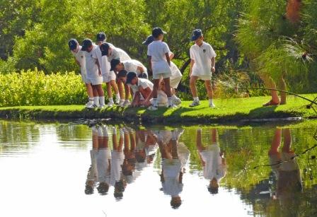 School group at Kirstenbosch Botanical Gardens-Cape Town
