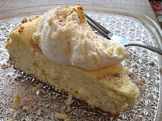 Almond cheesecake - Wow!