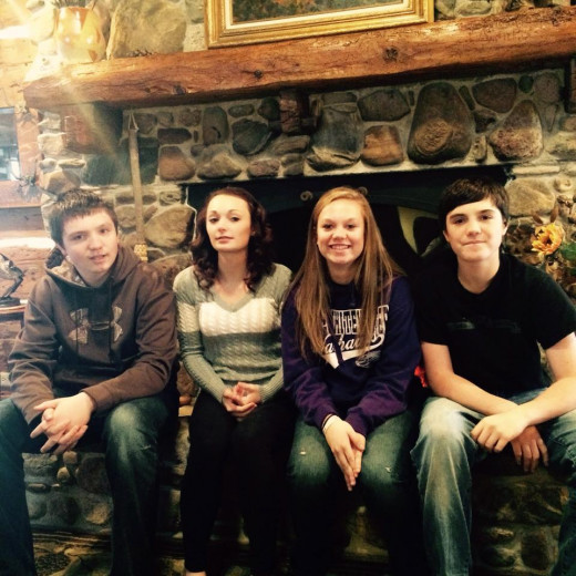 Left to Right, Brother Brennan 15, Sister Kilie 17, Myself 19, Brother Keegan, 13.