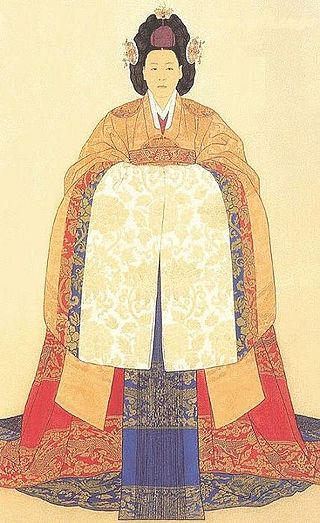 Portrait of Empress Myeong Seong also known as Queen Min