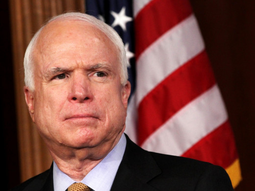 Senator John McCain has come under fire recently as a warhawk because of 'shame' at US inaction in the Ukraine