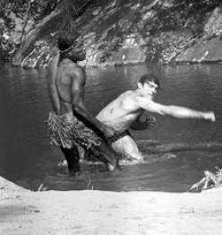 Tarzan fights a troublemaker