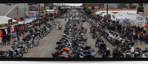 A look at the main street in Sturgis during Rally week.
