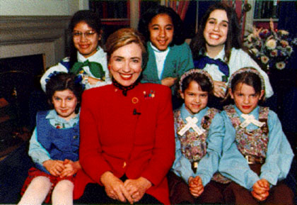 Hillary Clinton was a Girl Scout.