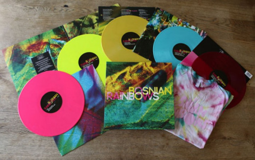 Bosnian Rainbows released multiple colored vinyl variants for their first pressing.