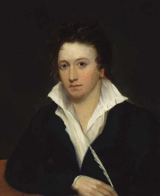 A portrait of Shelley by Alfred Clint