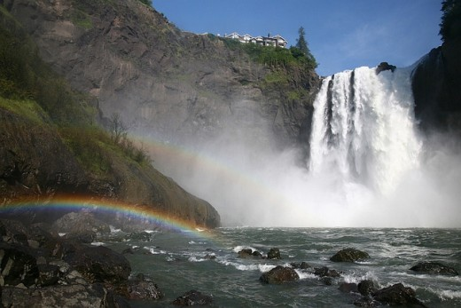 Rainbow in Snoqualmine Falls