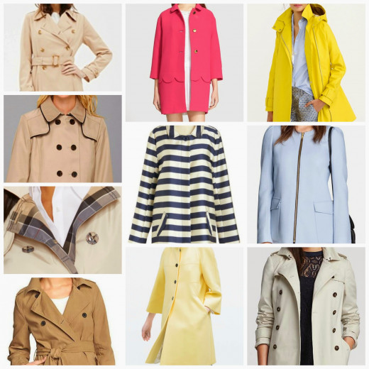 The classic trench coat and other spring coats
