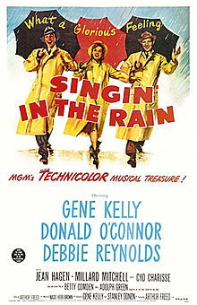 The theatrical release poster of Singin' in the Rain.