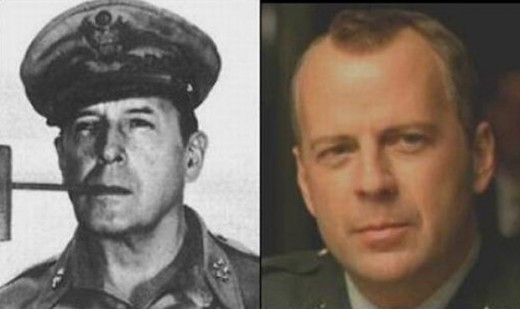 The great Bruce Willis and Douglas MacArthur