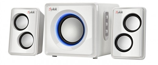 With its fashionable appearance and featuring Bluetooth technology, the Sykik Sound Wireless Bluetooth System is a product to be reckoned with.  The wireless technology gives you multiple options for speaker placement.  The power output is 27W RMS.