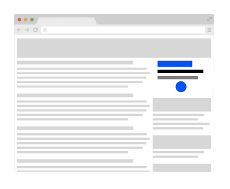 AdSense allows you to display advertising alongside your blog content