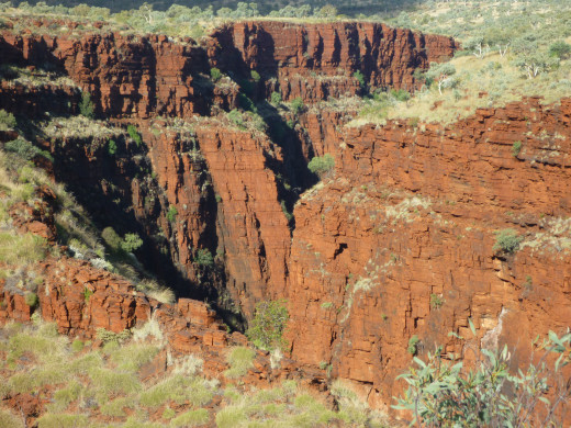 Amazing red Gorges